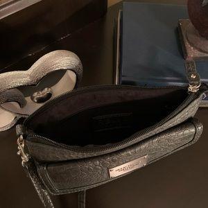 Beautiful dark grey clutch's purse or wallet
